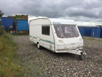 Sterling Europa 1999 4 berth cassette toilet shower oven grill and hobs blow heating blinds fly