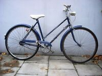 Ladies Vintage Town / Commuter 3-Speed Bike by BSA, Dark Blue, JUST SERVICED / CHEAP PRICE!!!!!!!!!!