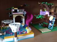 Lego friends tree house and pool party