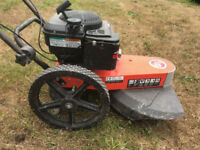 DR Wheeled Petrol Power Strimmer. Heavy duty American built. 5 times the power of a hand held.