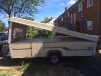 Retro 80s folding caravan esterel
