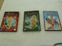 DVDS. 3 X CHILDRENS MOVIE DVDS. 2 X TINKERBELL. 1 X JOSEPH KING OF DREAMS