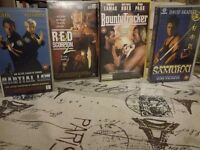 4 martial arts movie in VHS