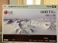 LG 4K TV 43inch smart tv