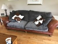 Two part leather sofas
