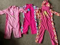 Girls sun suits / swinsuits