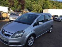 2007 Vauxhall Zafira 1.6cc,11 mths mot,cambelt changed,ac,cd,alloys,clean,excellent runner,7 Seater.