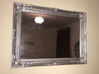 Silver vintage mirror