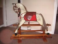 Handed crafted wooden Hitcham Suffolk rocking horse