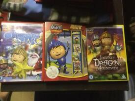 3 Mike the knight DVDs