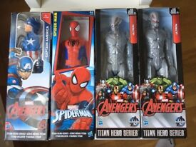 11x NEW ACTION FIGURES, STAR WARS , CAPTAIN AMERICA, SPIDERMAN LOT
