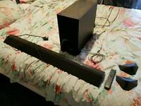 Sony sound bar and sub woofer