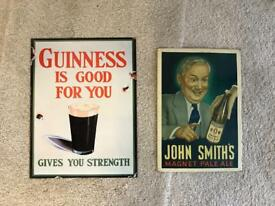 Decorative beer signs