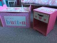 Dressing up box/toy box and matching bedside cabinet