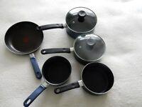 Set of Tefal pans