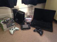 Toshiba laptop, xbox360, psp