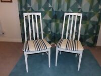 2 Wooden Upcycled Chairs