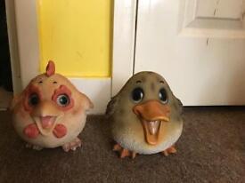 Garden duck ornaments