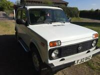 2012 lada Niva 4x4 off roader vintage retro vehicle