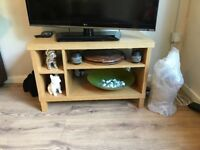 Oak veneered tv unit