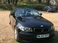 Lovely example BMW Convertible 1 series 140BHP Full leather