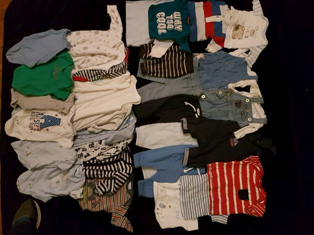 Bulk Lot Boys 0-3m Clothes. Other sizes available see description