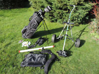 Masters Golf Clubs with Trolley and Accessories