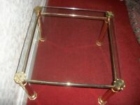 JOHN LEWIS GLASS AND GOLD COFFEE TABLE