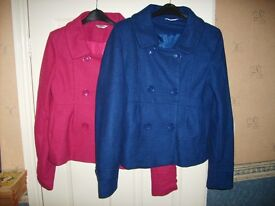 2 Tammy jackets, wool mix, will fit size 8