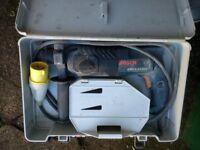 bosch 110 volt drill site transformer and 110v site light new
