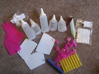 selection of icing equipment and number/letter cutters - mostly new