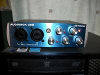 USB AUDIO interface. PreSonus audiobox 2