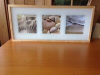 2 photo frames with 3 pictures in each