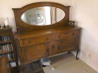 Art Nouveau Dresser Sideboard Cabinet solid Oak