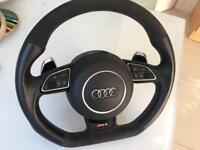 Audi Steering Wheel Leather Alcantara Flat Bottom