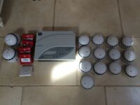 Fire alarm - Wired Sensotec Alarm Panel, 15 x smoke alarms & 4 x manual call points