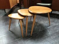 Nest of Tables by Ercol. Retro Vintage Mid Century