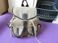 Brown vintage Canvas Rucksack Backpack