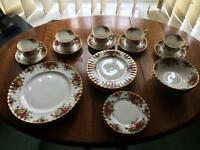 ROYAL ALBERT BONE CHINA - 29 pieces