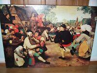 Holland Netherlands vintage print medieval scene