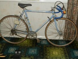 Geoff Clark 21 inch hand built race bike,late 60's early 70's. Usable classic.
