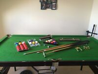 6ft x 3ft Snooker/Pool Table with balls, cues etc