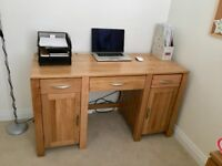 Galway Natural Solid Oak Computer Desk - Used/Like New