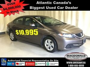 2013 Honda Civic LX  Financed Price of $10,995!