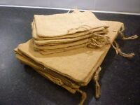 Small jute gift bags, two sizes
