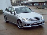 2010 (60) MERDEDES C220 CDI ESTATE AMG BLUEFFICIENCY 42000 MILES FULL MERCEDES SERVICE HISTORY