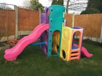 Little tikes tropical playground climbing frame