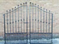 Very heavy wrought iron gates