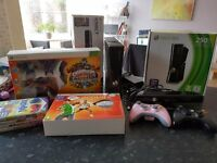 Xbox 360 250GB with Kinect, 2 Controllers and 6 Games (Skylanders Giants) Pristine condition