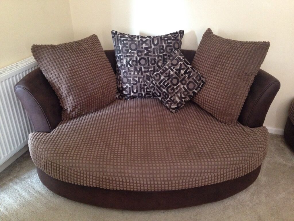 Corner Sofa Two Seater Cuddle Chair And Pouf In Sturry